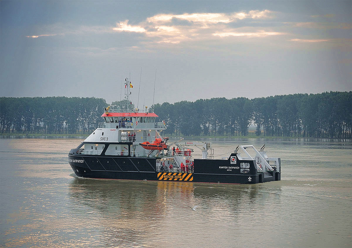 Shallow water survey vessel